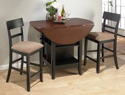 3 piece wood dining set with folding table and storage for dining room furniture ideas