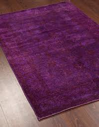 rugsville traditional overdyed purple wool rug 4 x 6