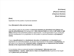personal istant cover letter