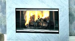 clean fireplace glass door ideas