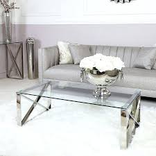 zenn design contemporary stainless steel clear glass lounge coffee table zen decorating ideas pictures living room