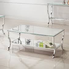 Coaster Furniture Rectangular Glass Top Coffee Table With Chrome Base |  Hayneedle