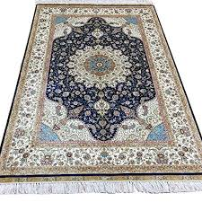 handmade silk carpet fl hand knotted traditional oriental persian rugs on