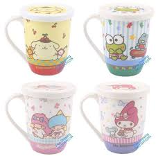 the office star mug. sanrio pom purin my melody keropp little twins star ceramic mug with lid the office
