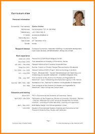curicculum vitae curriculum vitae example pdf formpd ideaoverten co