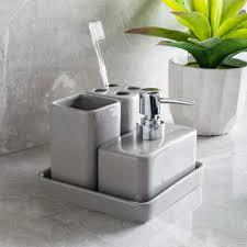 bathroom countertop accessories sets. harman elements bath accessories (grey) . bathroom countertop sets