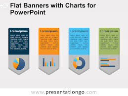 Powerpoint Charts Diagrams Ceo Pack Flat Banners With Charts For Powerpoint Powerpoint Design