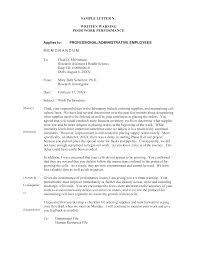 Employee Performance Letter Sample Sample Employee Warning Letter Poor Performance