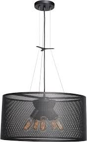 access 50927 bl epic contemporary black small drum pendant hanging light loading zoom