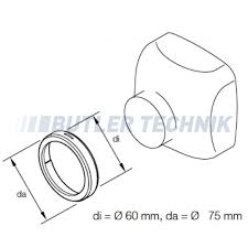 Heater Ducting Eberspacher Heater Ducting 60mm 75mm Adapter 221000010008