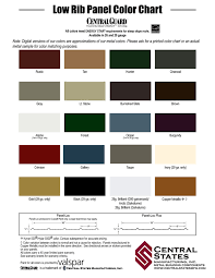 Central States Metal Color Chart Central States Metal Roofing Colors 12 300 About Roof