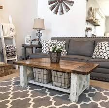 DIY Chunky Farmhouse Coffee Table - Free Plans - Handmade Haven