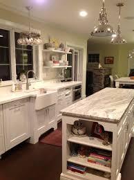 kitchen with spoon chandelier