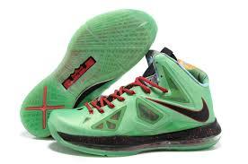 lebron shoes 2013. 854-215653 2013 new nike lebron 10 x green black red,nike free run lebron shoes