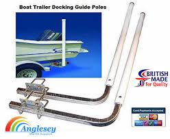 boat trailer guide posts docking arms