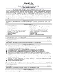 Best Accounting Resume Sample Accounts Payable Receivable Resumes Enderrealtyparkco 14
