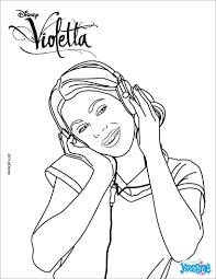 Coloriages Violetta Coute De La Musique Fr Hellokids Com
