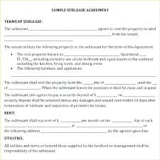 Sublease Form Free Sublease Contract Template Agreement Lease Forms Pdf