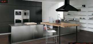 Beautiful stainless steel kitchen designs for modern house; awesome black  cabinet design with stainless steel tools kitchen