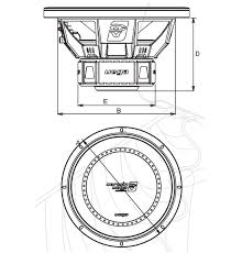 vdv vega woofers subwoofers mobile audio products physical dimensions diagram