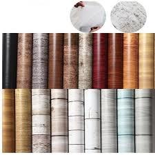 1M/5M/<b>10M</b> Kitchen Wood Wall Stickers Wallpaper Films ...
