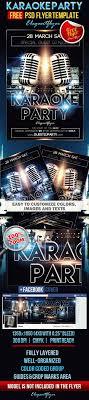 karaoke party free flyer psd template