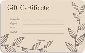 print a gift card free blank gift certificate template word