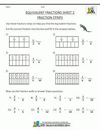Equivalent Fractions Worksheet Improper Worksheets For Third Grade ...