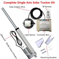 dhl solar tracker track single axis complete kit 8 dc12v linear actuator controller for solar panel tracking in solar controllers from home
