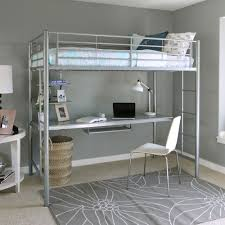 Coaster Furniture Bunks Twin Metal Workstation Loft Bed - Dark Gun Metal -  Walmart.com
