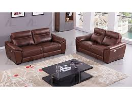 brown full italian leather recliner