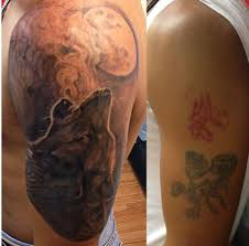 Black Grey Tattoo Cover Up Done By Cesar Perez From Keene Nh 03431