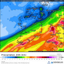Irish Weather Forecast Weather Charts Show Over 30mm Of