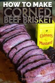 how to make smoked corned beef brisket