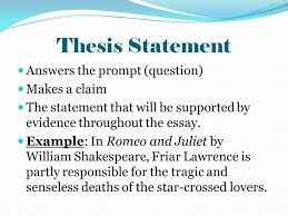 personal details essay thesis statement