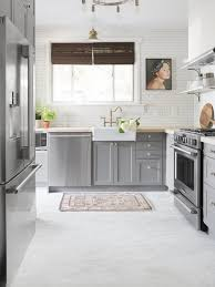 this farmhouse chic kitchen features the pretty marble look fairmont park lvt from shaw floors
