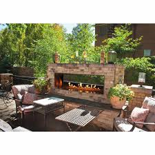 48 inch see through rose outdoor fireplace outside