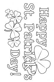 Small Picture Happy St Patricks Day Coloring Pages GetColoringPagescom