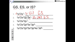 Ground State Excited State Or Impossible Electron Configurations