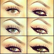 diffe ways of wearing eyeliner 1000 images about makeup on how to apply false lashes and false eyelashes
