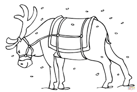 Small Picture Santas Reindeer coloring page Free Printable Coloring Pages