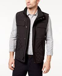 Vince Camuto Men's Quilted Zip-Front Vest - Coats & Jackets - Men ... & Vince Camuto Men's Quilted Zip-Front Vest Adamdwight.com