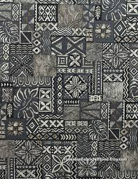 Fabric: Traditional Hawaiian print fabric - tapa and quilt ... & Fabric: Traditional Hawaiian print fabric - tapa and quilt patterns,  tropical ferns of block Adamdwight.com