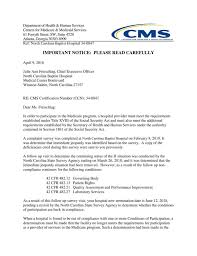 Cms Letter To Wake Forest Baptist Journalnow Com