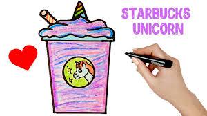 How To Draw A Starbucks Drink Unicorn Easy Starbucks Drink