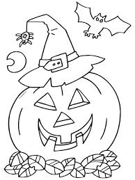Kleurplaat Halloween Pompoen Vleermuis Kleurplatennl