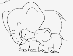 Baby Elephant Template Cute Coloring Pages Of Elephants With Baby Elephant Template