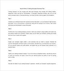 Retail Business Plan Outline Boutique Business Plan Under Fontanacountryinn Com