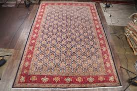 11 2 x 16 8 hand knotted semi antique palace sized navy persian tabriz oriental area rug 12980457