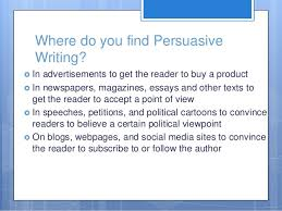 persuasive writing th grade 4 where do you persuasive writing